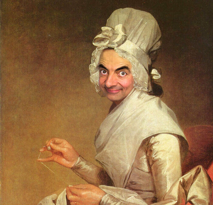 Photo manipulation: Mr Bean inserted into historical paintings